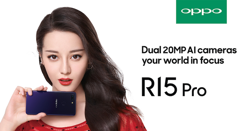 Dilireba Dilmurat, the product ambassador of R15 Pro
