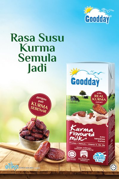 Goodday Milk Debut's the First Kurma Variant in the UHT Milk