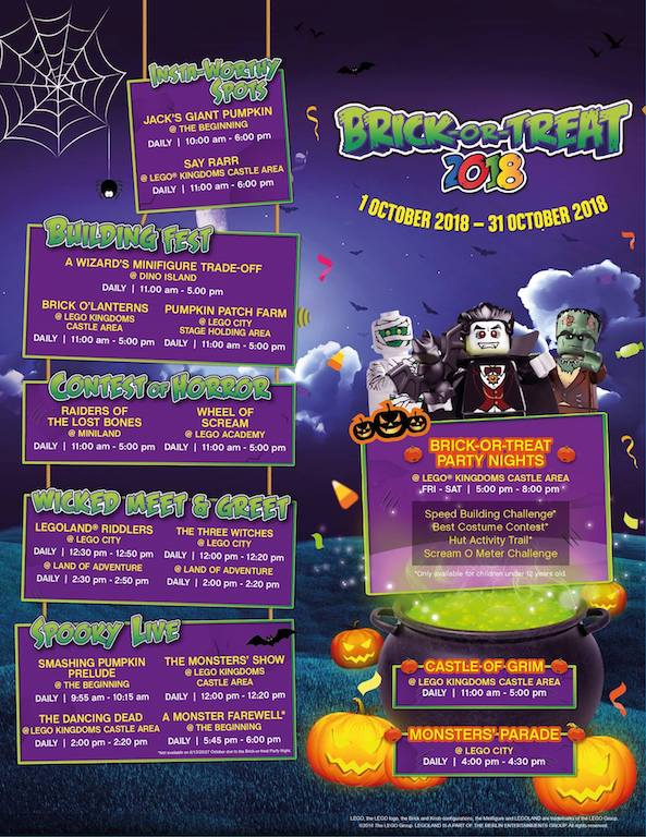 Brick-Or-Treat Halloween Festival Schedule