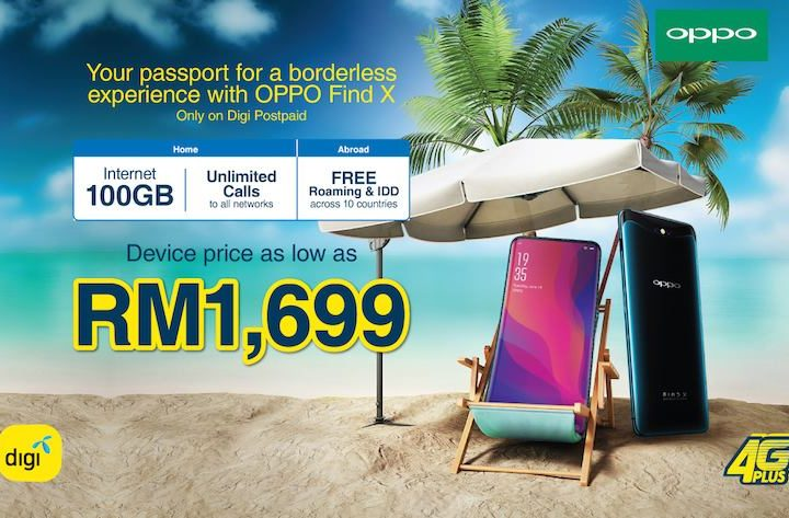 Digi offers Customers the OPPO Find X as low as RM1699