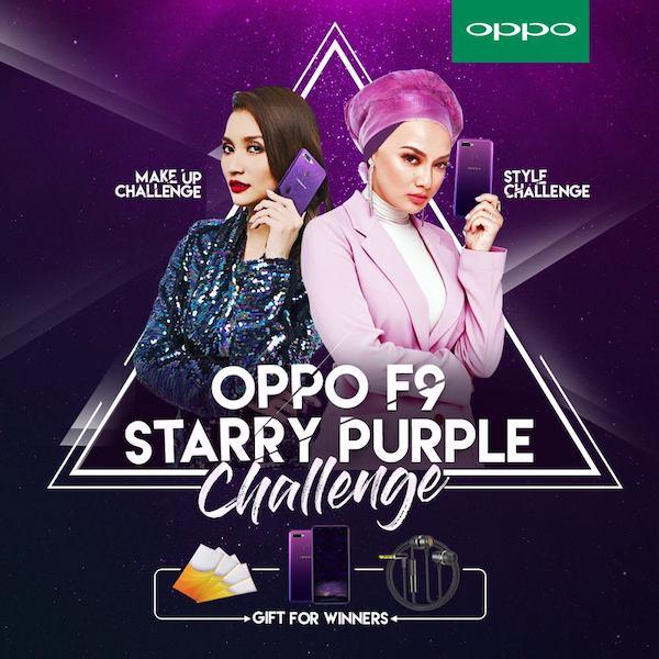 OPPO F9 Starry Purple Make-Up Challenge