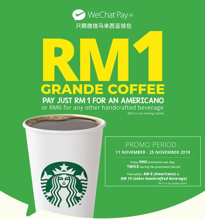 WeChat Pay MY is Now Available at Starbucks
