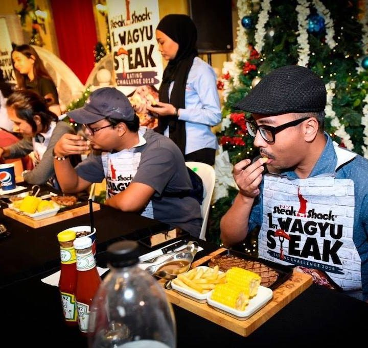 NY Steak Shack Wagyu Steak Eating Challenge