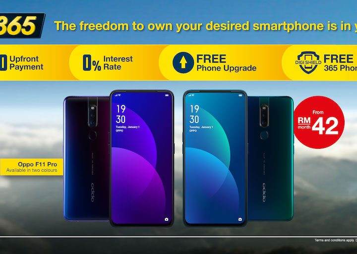 Own OPPO F11 Pro from only RM42 Month with Digi