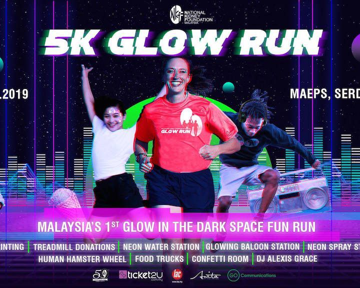 NKF Glow Run 2019 Turn MAEPS Serdang into a Glowing Party