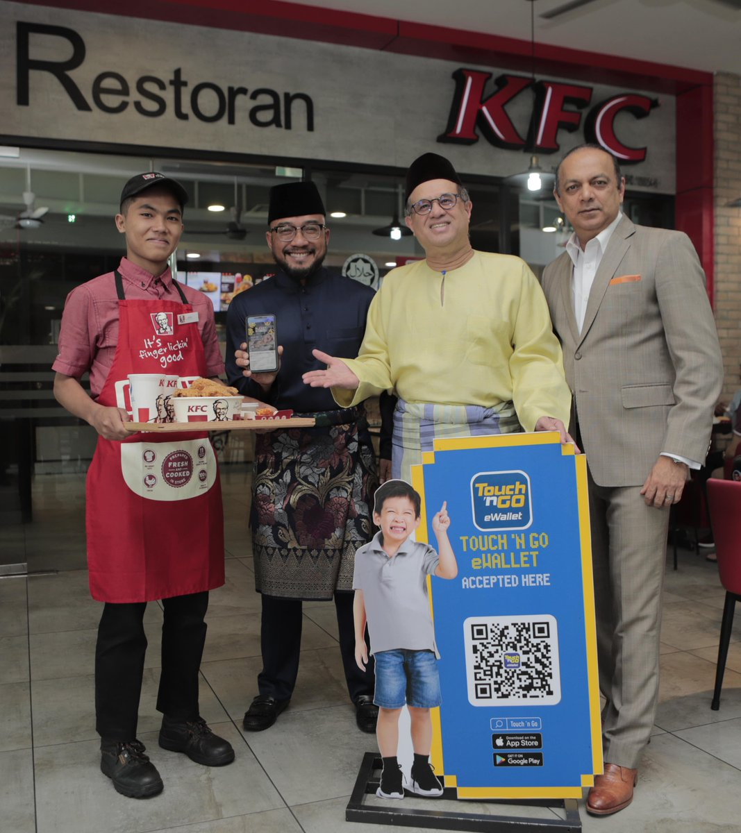 QR-Payments KFC Restaurants Using Touch 'n Go eWallet