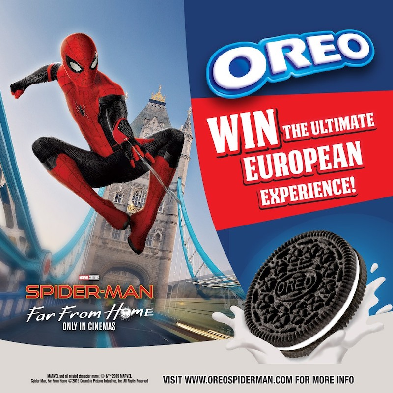Trip to London and Oreo Spiderman Merchandise