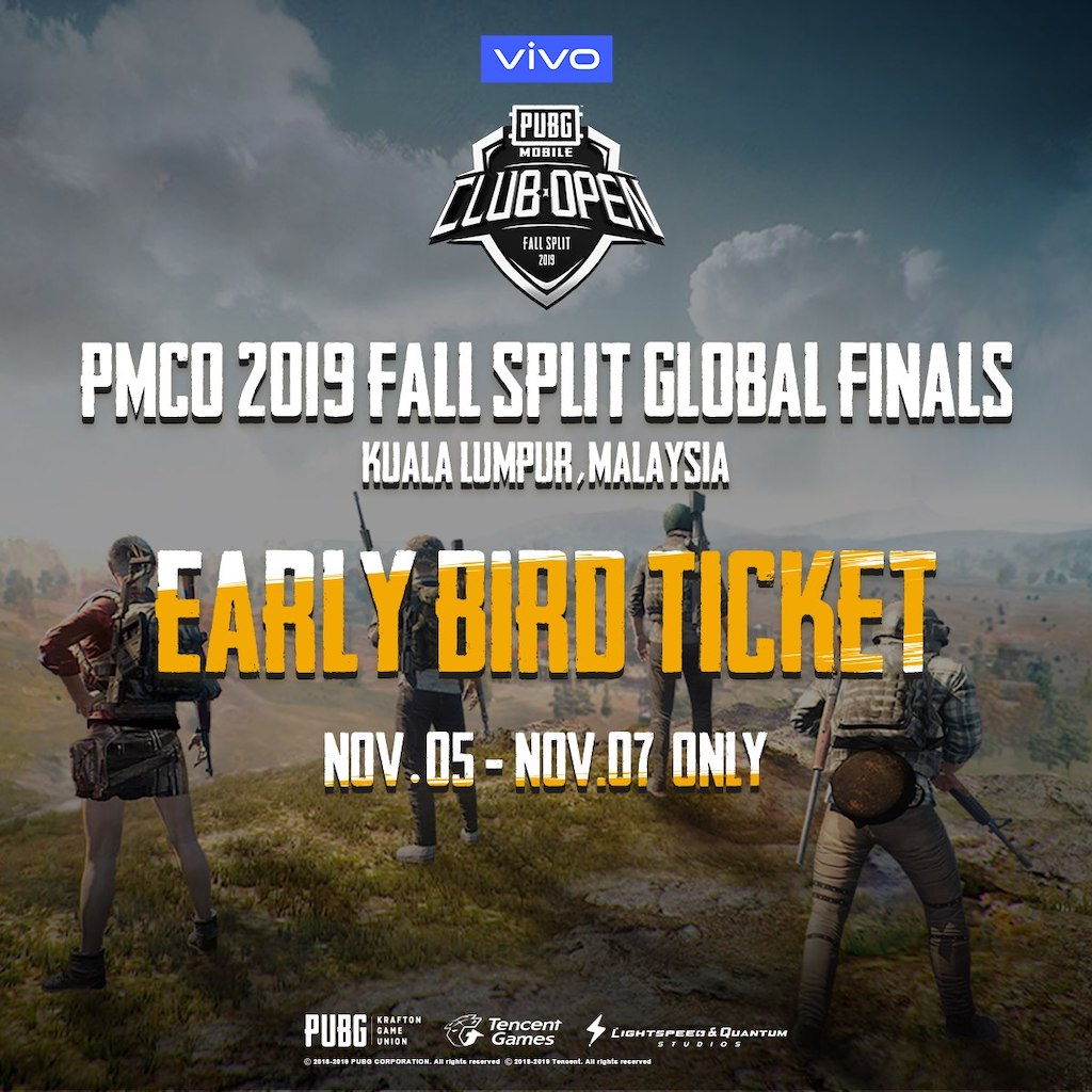 PUBG MOBILE Club Open Early Bird Ticket Sales