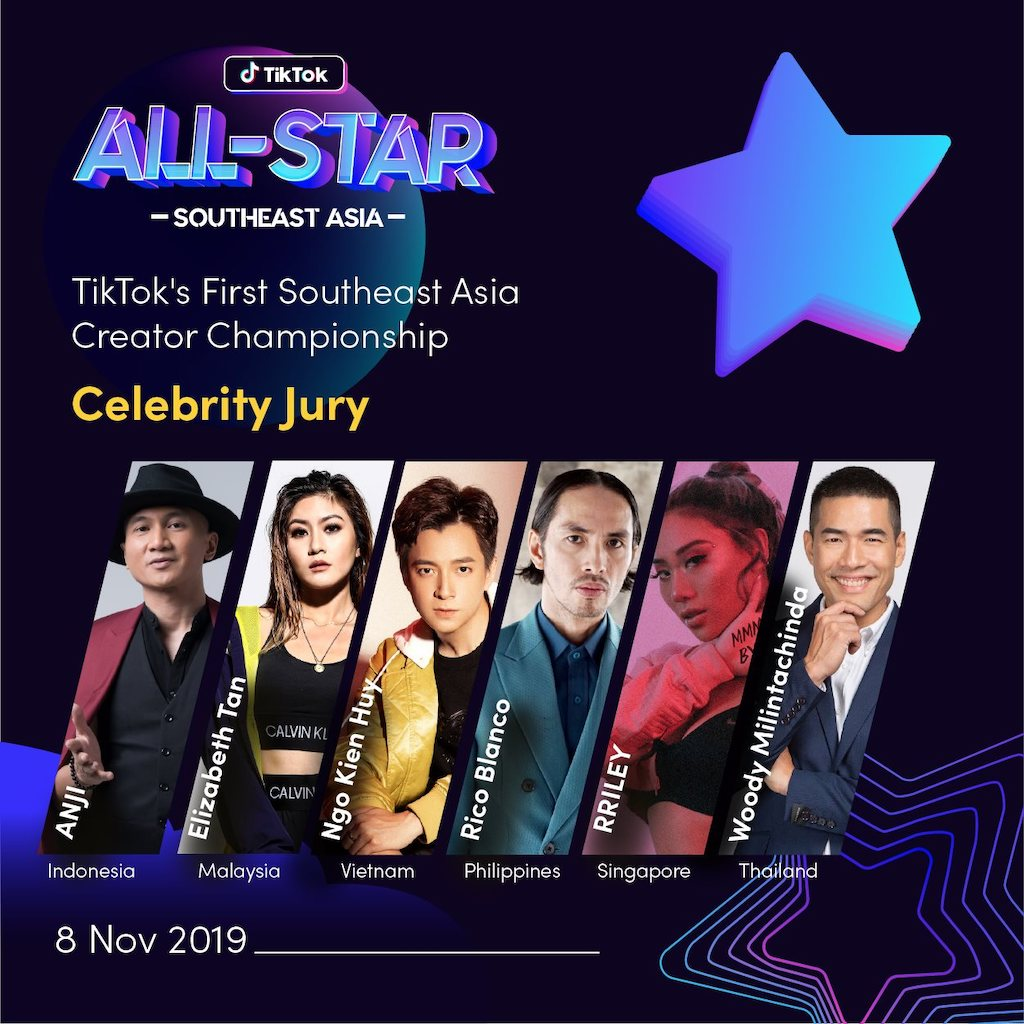 TikTok All-Star Southeast Asia 2019 Celebrity Jury