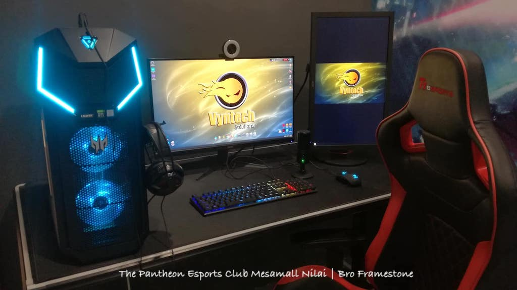 Streamer Room The Pantheon Esports Club Mesamall Nilai