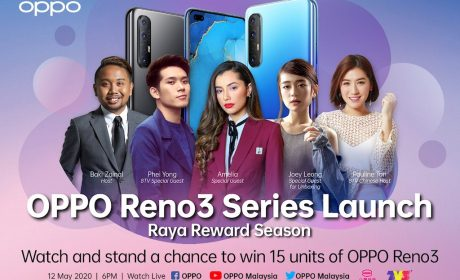 Catch the launch of OPPO Reno 3 this May 12