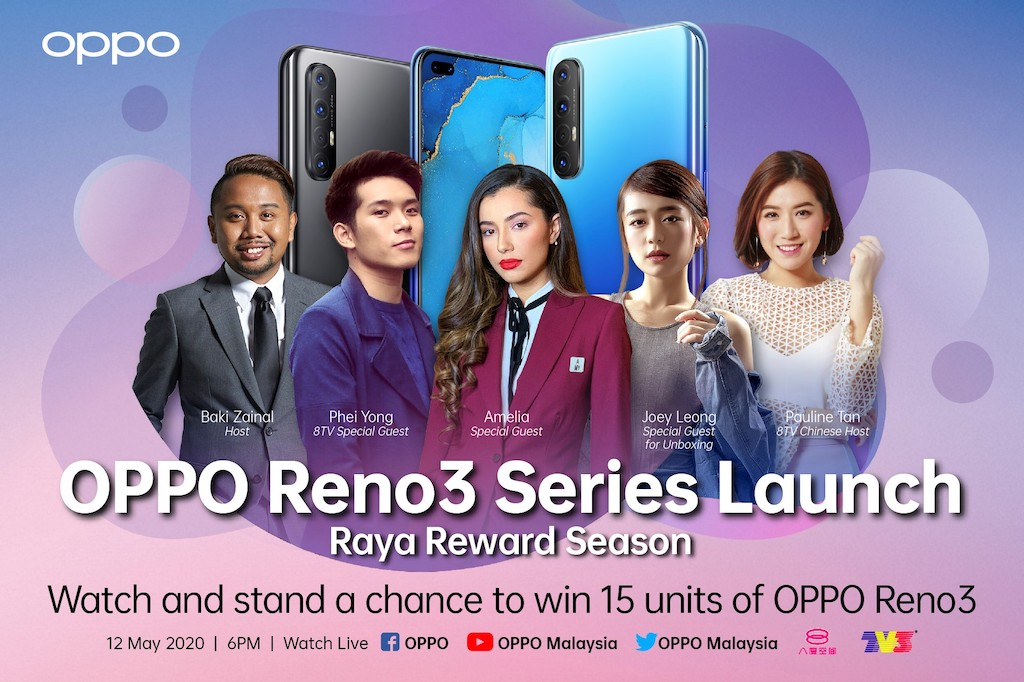 Catch the launch of OPPO Reno 3