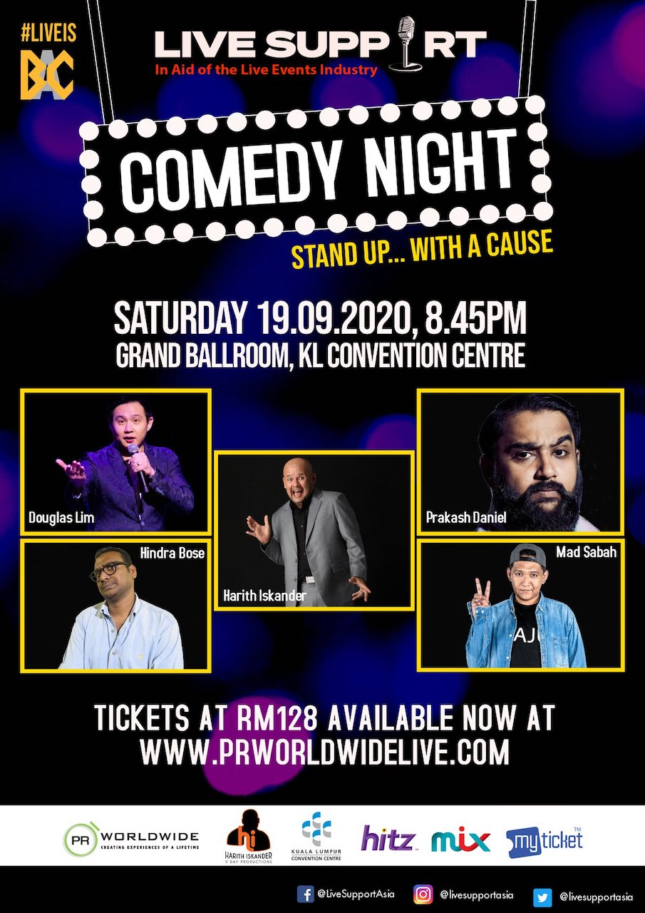 LIVE SUPPORT kick starts its series with COMEDY NIGHT