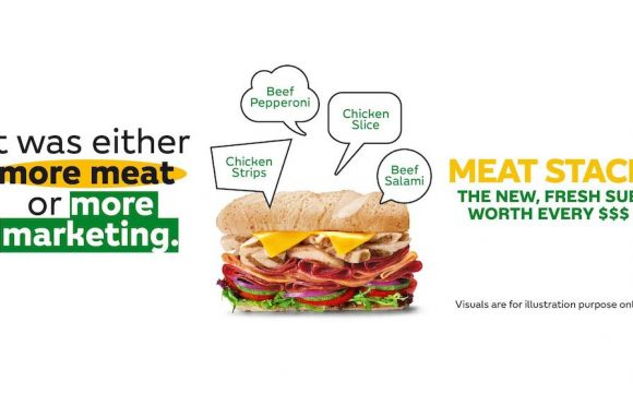 Subway Meat Stack Sub