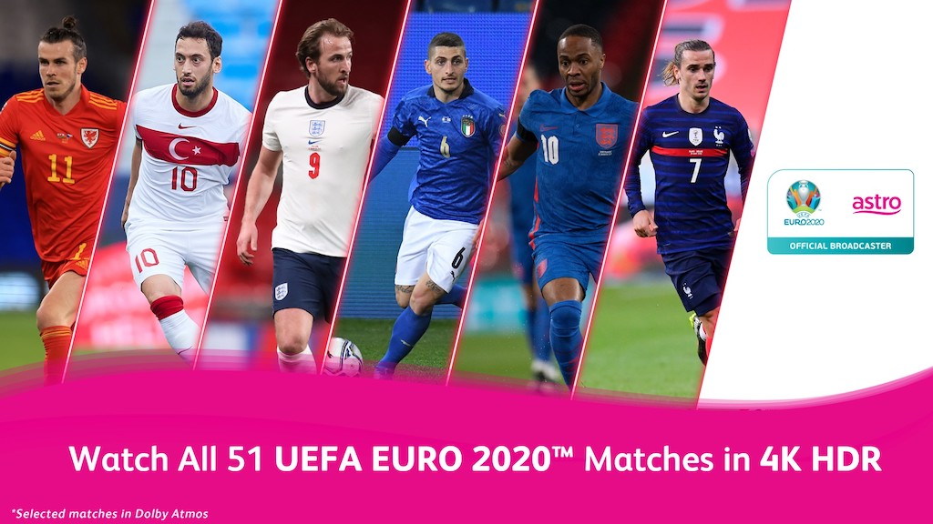 All 51 UEFA EURO 2020 Matches in 4K HDR on Astro